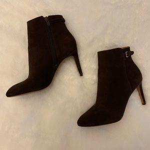 3f87437292fc Nine West women powerhour suede boots. Dark brown